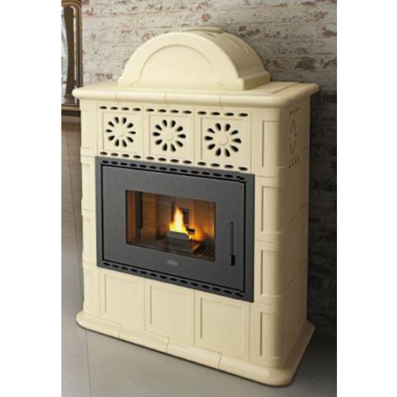 Stufa agnese eva calor a pellet maiolica 13 kw ebay - Le migliori stufe a pellet canalizzate ...