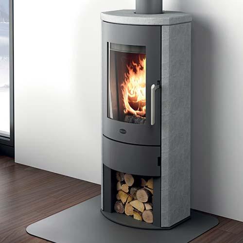 Stufa a legna ginevra eva calor 8 kw colore pietra - Tubi stufa a legna ...